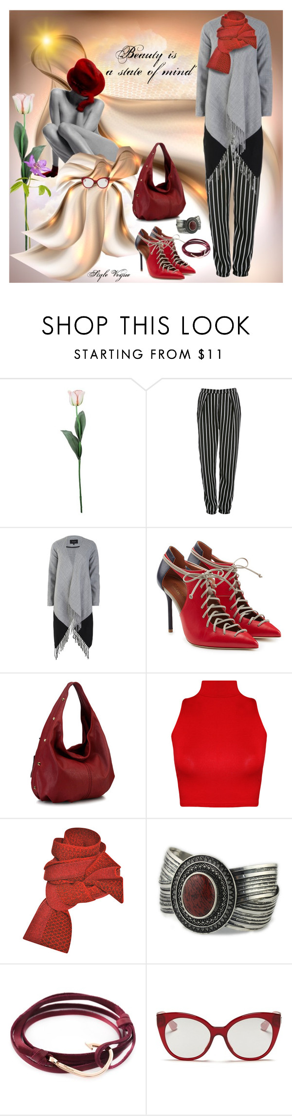 """""""Beauty is ..."""" by lamipaz ❤ liked on Polyvore featuring Laura Cole, Glamorous, VILA, Malone Souliers, WearAll, Prabal Gurung, MIANSAI and Miu Miu"""