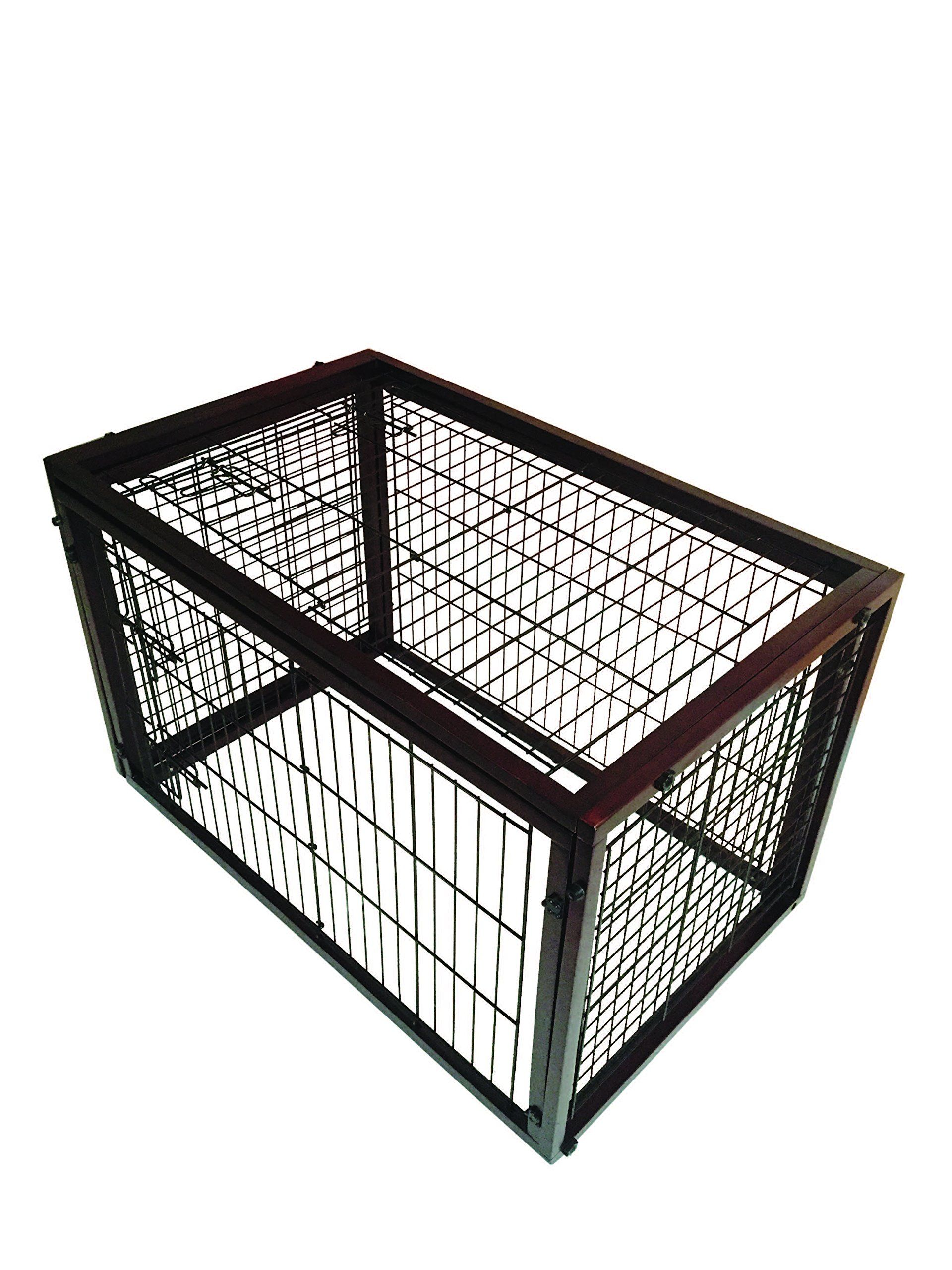 Simply Plus Dog Crate 2017newly Designed Model Solid Wooden Frame Metal W Divider And Tray Small27 6 X 20 X 23 6 Le Dog Crate Crates Pet Supplies