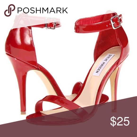 Size 8 Madden Girl red strappy heels
