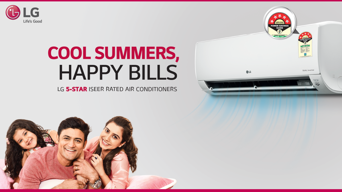 Beat Summer Woes Every Day The Dual Inverter Compressor In The Lg 5 Star Iseer Rated Air Conditioner Hel In 2020 Samsung Air Conditioner Air Conditioner Conditioners