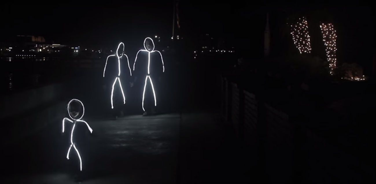 these halloween costumes turn the whole family into glowing stick