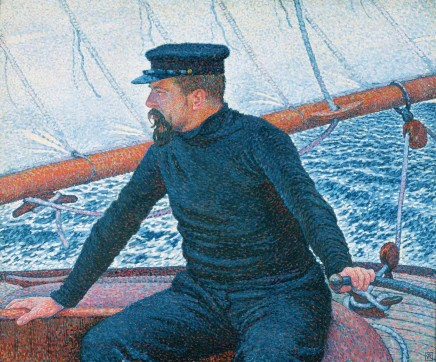 Theo Van Rysselberghe 1862 1926 Paul Signac As A Yachtsman 1896 Private Collection Avant Garde Artists Post Impressionism Montreal Museums