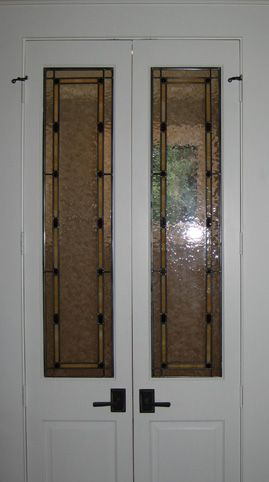 Art Glass By Wells Custom Leaded Glass Interior Doors In Houston