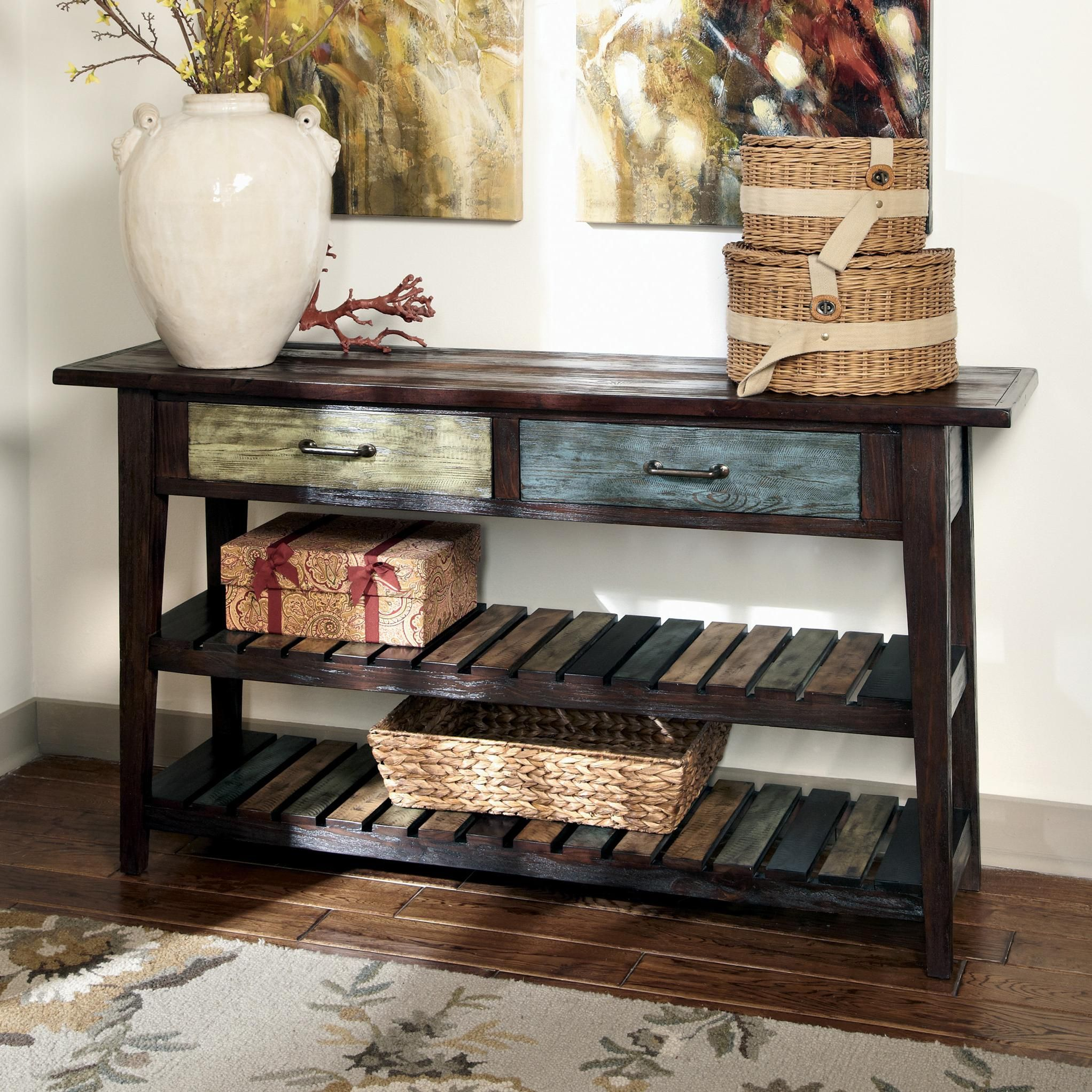 Mestler Sofa Table By Signature Design By Ashley Rustic Sofa Tables Sofa Table Rustic Sofa [ 2044 x 2044 Pixel ]