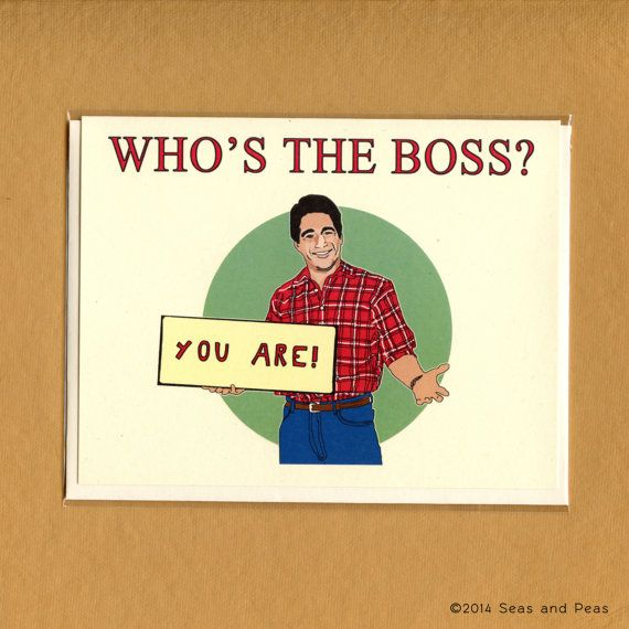 Whos The Boss Card Funny Love Card Whos The By Seasandpeas