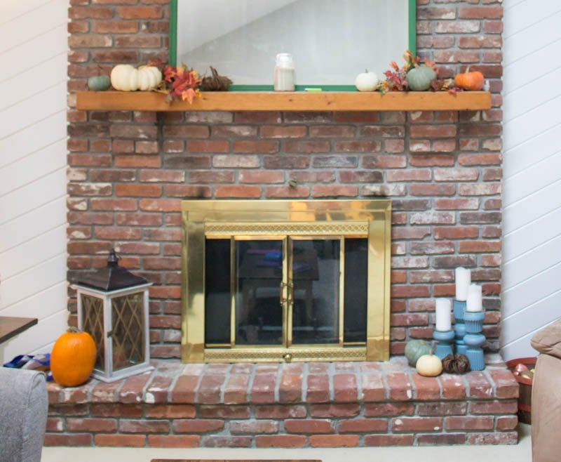 How To Update A Fireplace Door With Spray Paint With Images