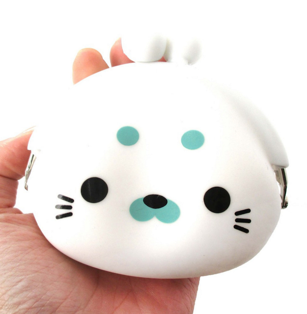 Best gift Pochi Silicone Coin purse rubber case coins bag wallet multi color