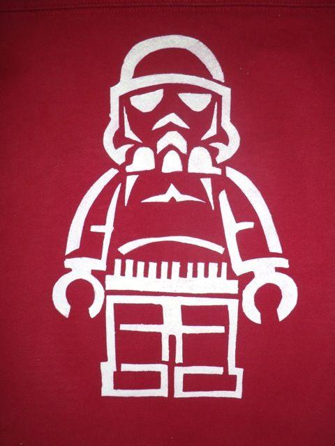 freezer paper stencil lego guy stormtrooper star wars ...