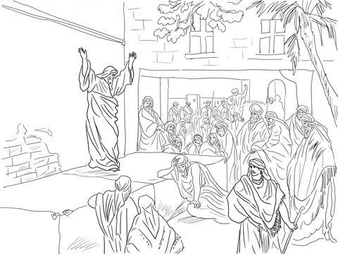 Prophet Micah Exhorts The Israelites To Repent Coloring Page