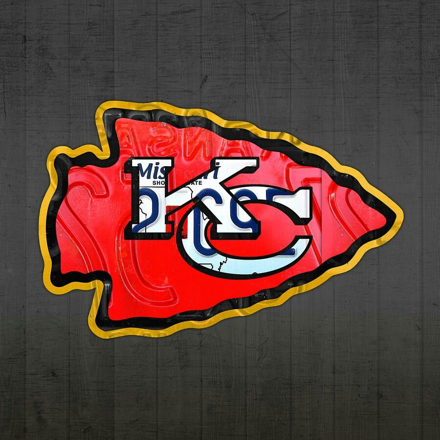 Kansas city chiefs player information and depth chart order. KC Chiefs logo made out of license plates   Kansas city ...