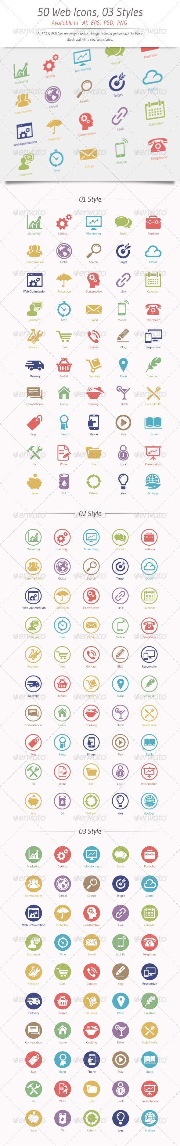 50 Web&Seo Icons Seo services, Web seo, Business icon