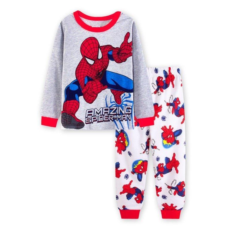 Childrens Spiderman Pjs Superhero Pajamas Pyjamas Nightwear Sleepwear
