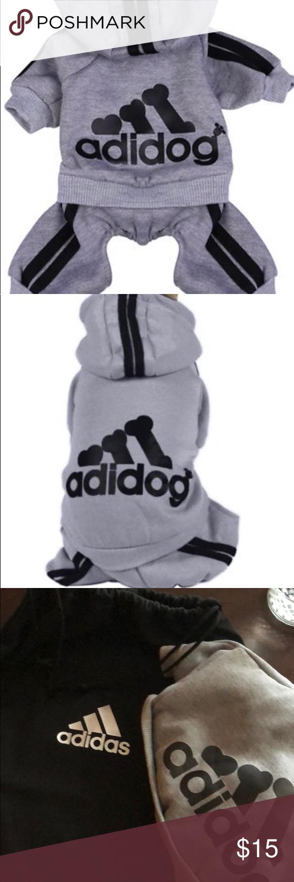Small Adidog Adidas Dog Sweatshirt With Bag Dog Sweatshirt Sweatshirts Bags [ 1740 x 580 Pixel ]
