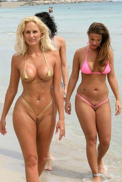 Mature extreme bikini