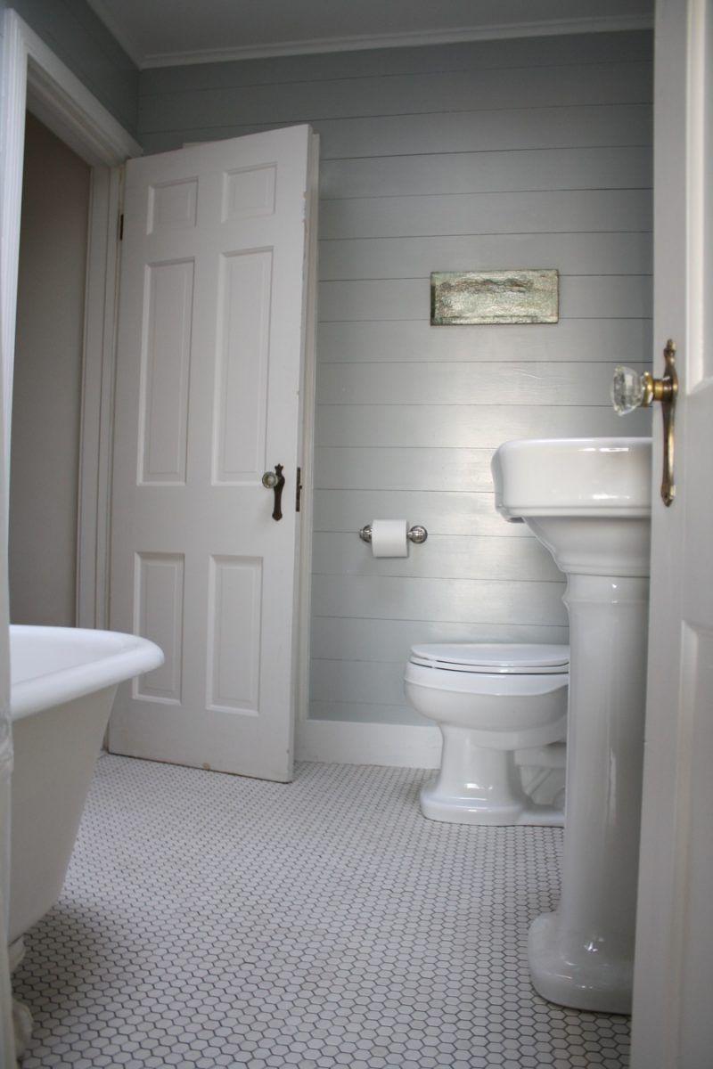 After First Floor Bathroom Shiplap Bathroom Ship Lap Walls Bathrooms Remodel