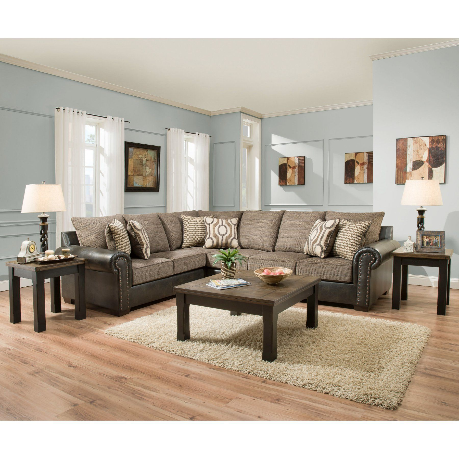 Simmons Upholstery Lucky Marble Sectional Sofa With Optional