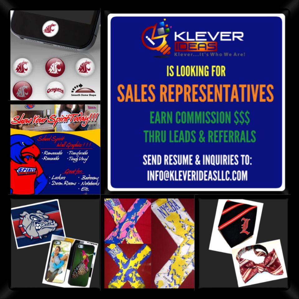KLEVER IDEAS, LLC IS LOOKING FOR SALES REPRESENTATIVES TO