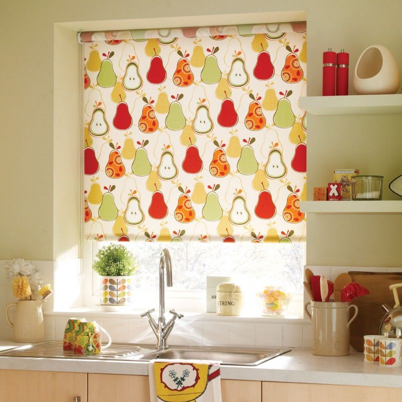 Kitchen Design Fruit Printed Fabric Roller Blind For Kitchen Design Ideas The Wonderful Curtains