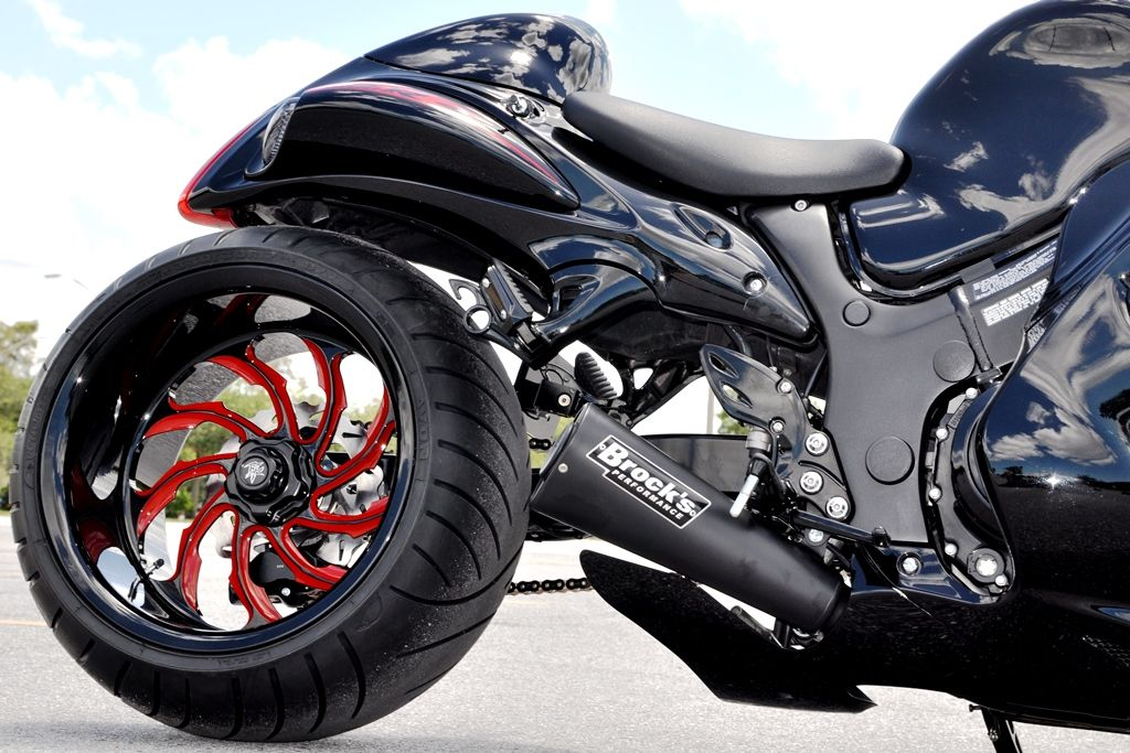 a2e2ac9d5 +8 over billet single sided swingarm on 2011 Suzuki hayabsua with  performance machine torque custom powdercoated wheels