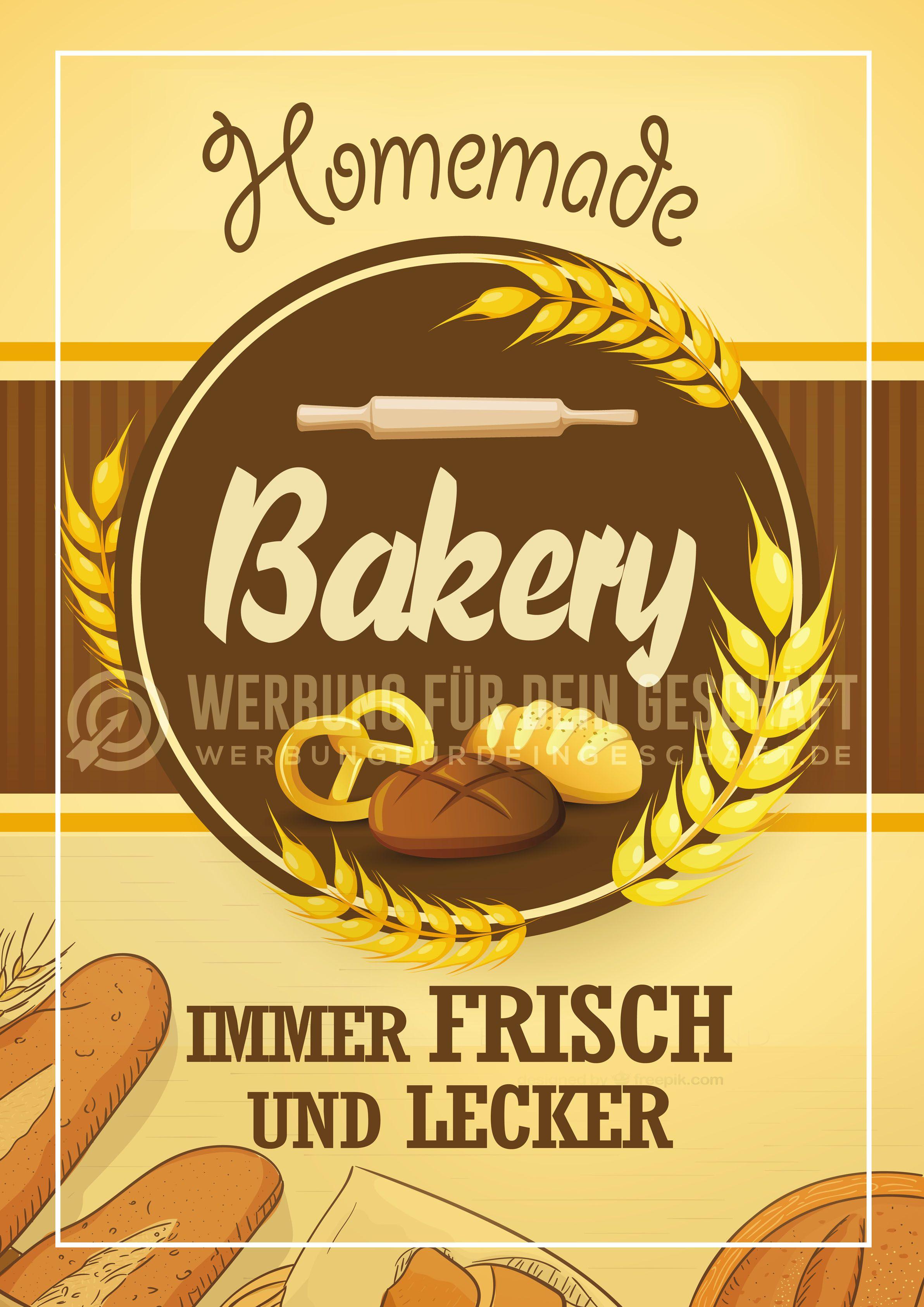 Dieses Poster Homemade Bakery Kann Fur Eure Werbung Eingesetzt Werden Backerei Poster Werbung Bakery Backerei Konditorei Backerei Konditorei