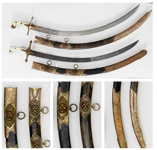 Heavy Cavalry Officer's Swords    Dated: about 1825  Culture: British  Equipped by the 5th Dragoon Guards.    Source & Copyright: Royal Armouries http://collections.royalarmouries.org/