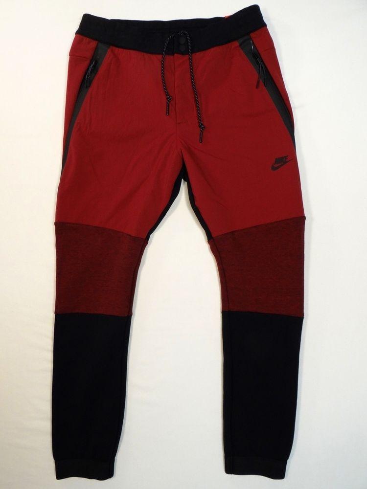 Nike Sportswear Tech Fleece Pantalones cónicos 2 Rojo Oscuro para Hombre  Nuevo Con Etiquetas  70f09b7824a31