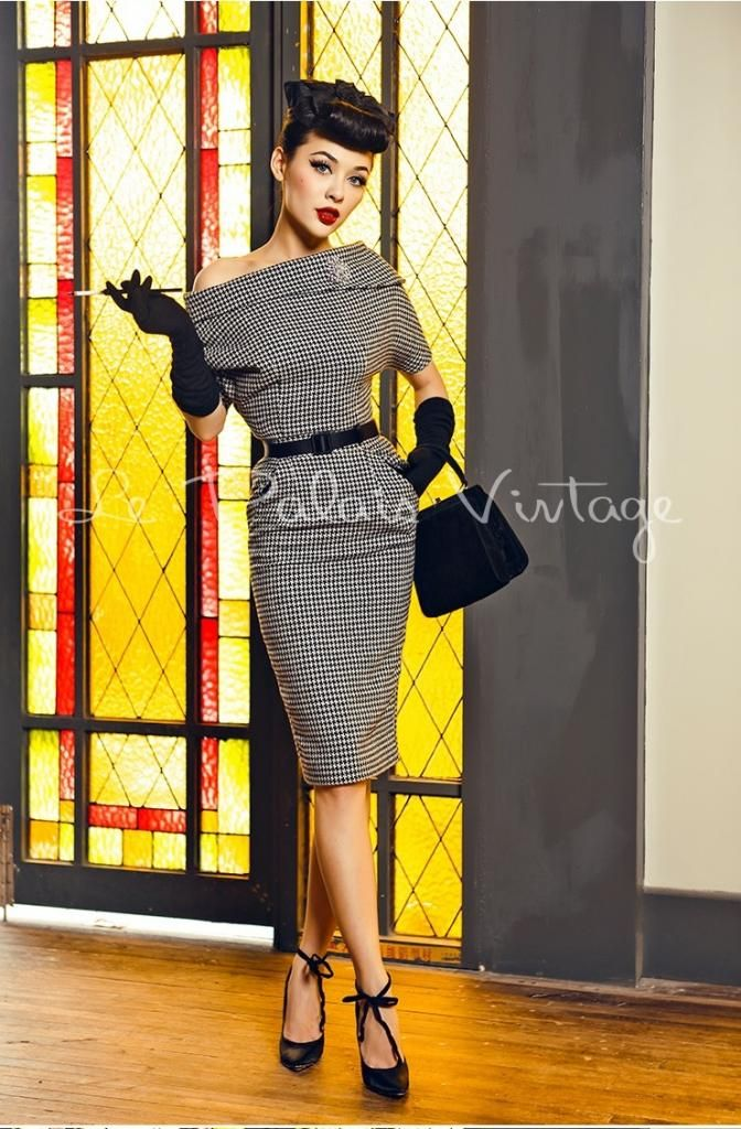 Up Fashion Magazine: Le Palais Vintage Retro Pin Up Houndstooth Pencil Off