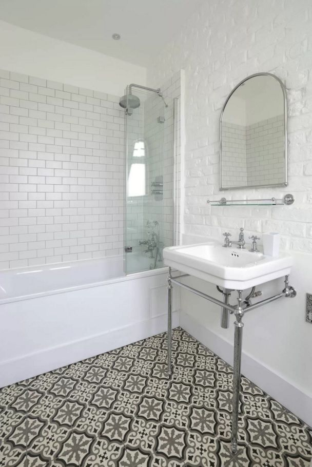 Interior New Bathroom bathroom renovation ideas love the subway tiles white tooblack choosing new design nice enticing floor pattern