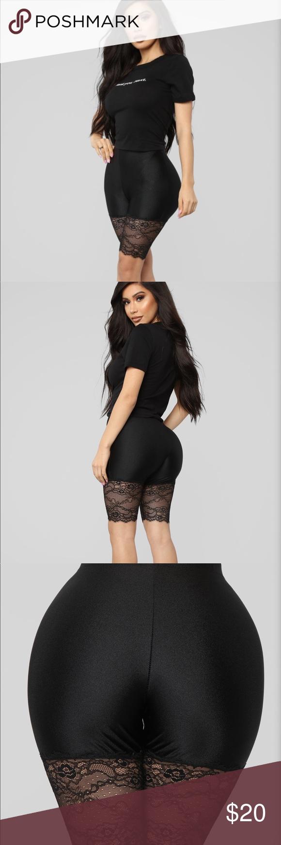 NWT fashion nova lace biker shorts size L New with tags