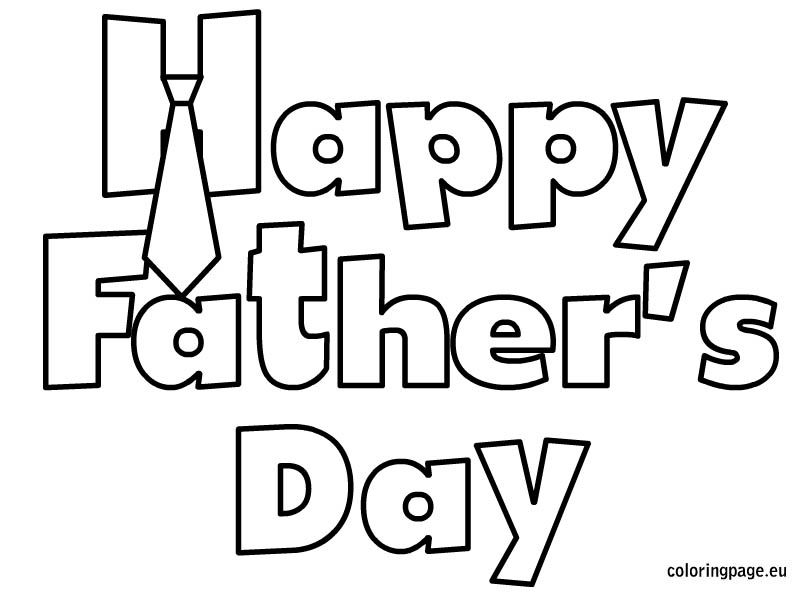 happy fathers day coloring sheet