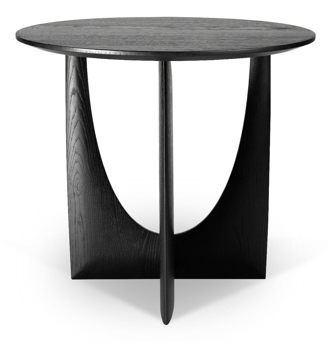 Geometric Side Table Black Oak In 2020 Geometric Side Table