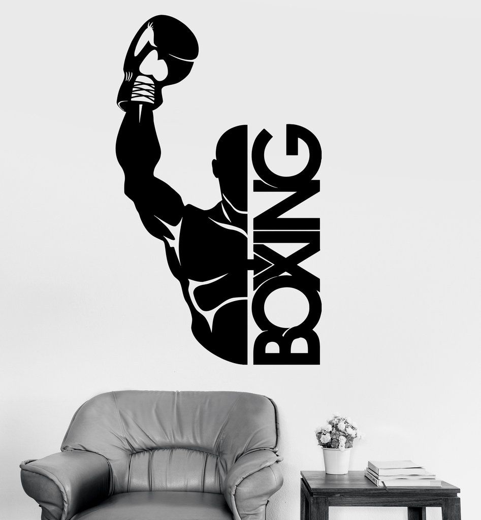 Vinyl wall decal boxing boxer fight sports decor stickers mural vinyl wall decal boxing boxer fight sports decor stickers mural ig3466 amipublicfo Gallery