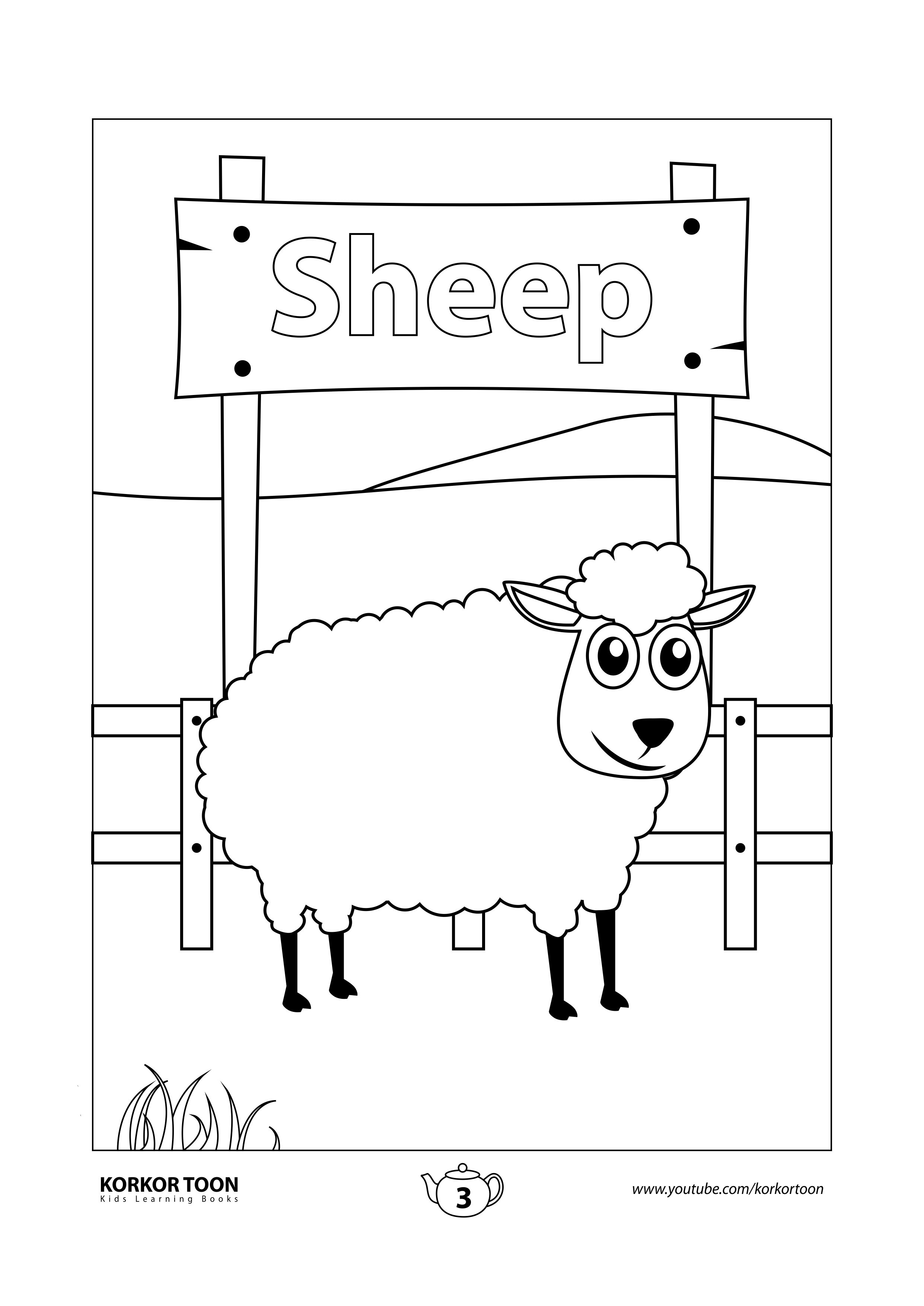 Sheep Coloring Page Farm Animals Coloring Book Coloring Books Animal Coloring Books Kids Coloring Books