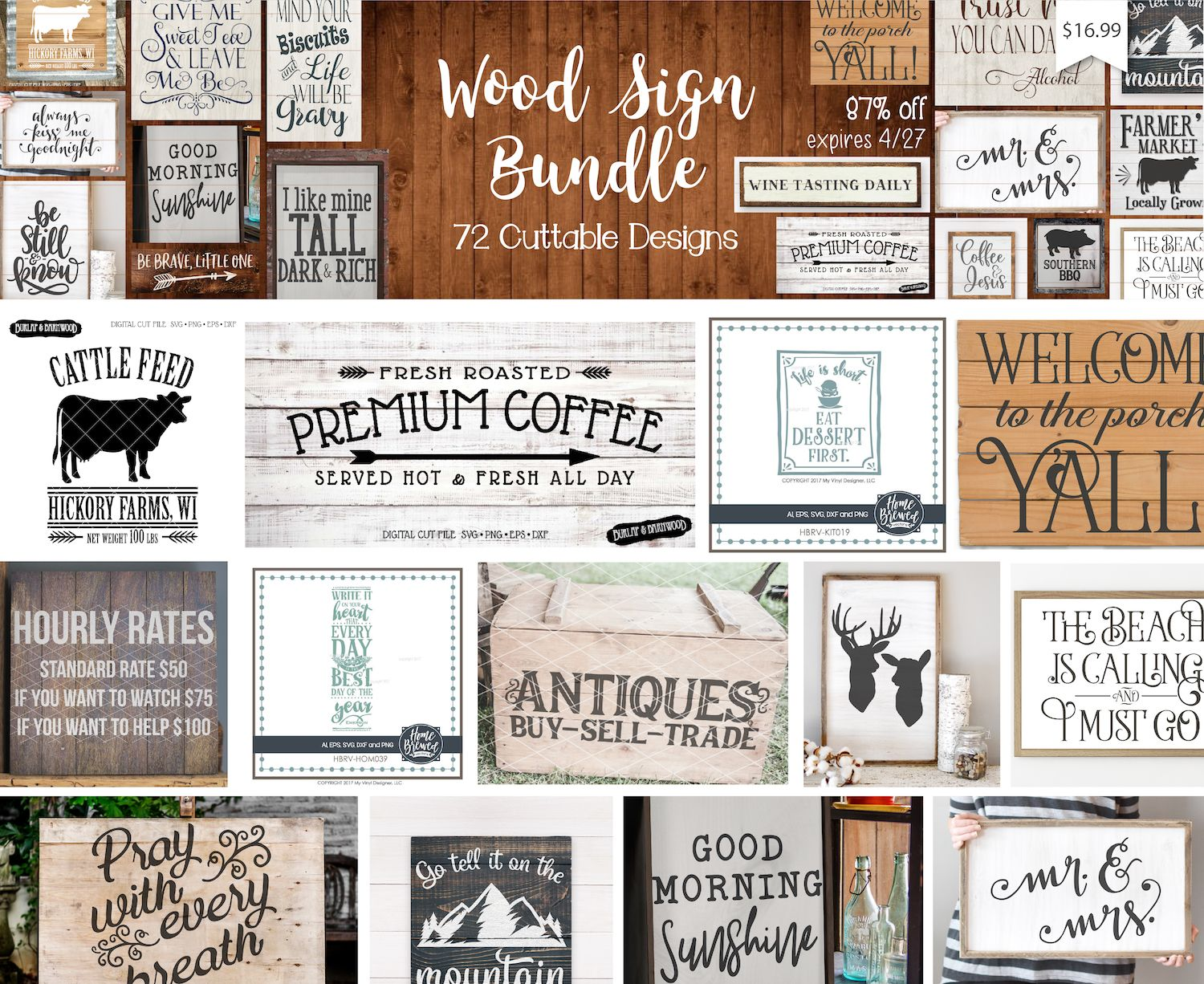 1 Day Only Wood Sign Svg Bundle Wood Signs Stencil Material Swing Design