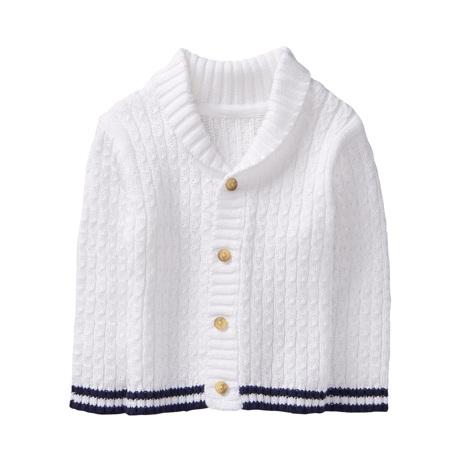 Newborn White Cable Knit Cardigan by Janie and Jack | Baby ...
