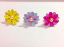 Pastel Flower * earrings / earrings