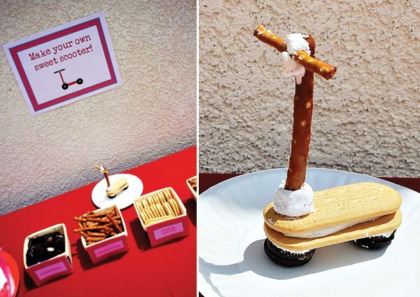 """Vintage-Style """"Red Scooter"""" Birthday Party // Hostess with the ..."""