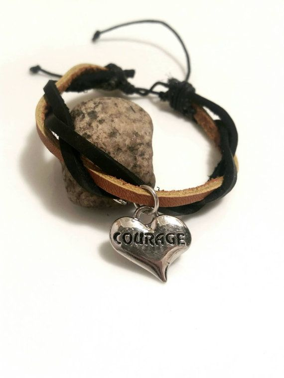 Courage Bracelet Survivor Inspirational Jewelry By Absolutejewelry