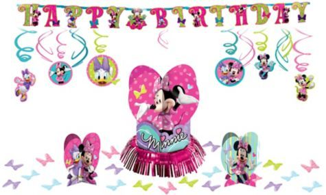 Minnie Mouse Party Decorations Kit Girls Birthday Party Themes