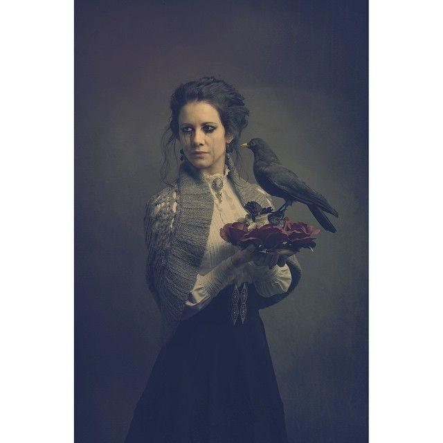 "darkbeautymag""Nevermore"" —  Photographer: Andrea Gottardi Stylist/Model: ElenaSilvia Sperandio"