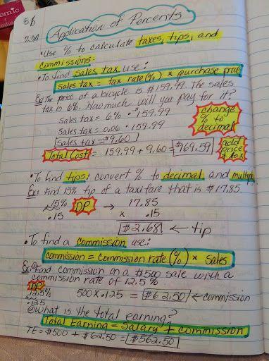 7th Grade Math Interactive Notebook Maria Gonzalez Picasa Web Als