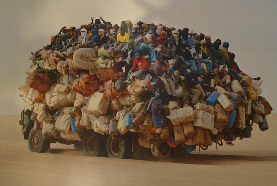 Western Sahara Public Transportation They really no how to pack for a trip!!lol