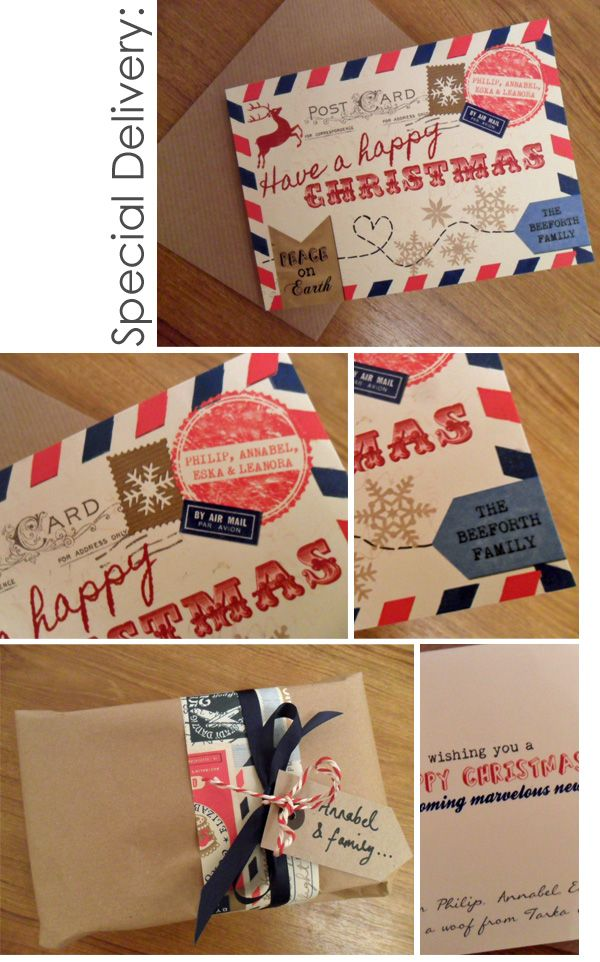 Special Delivery Airmail Christmas Cards Cards