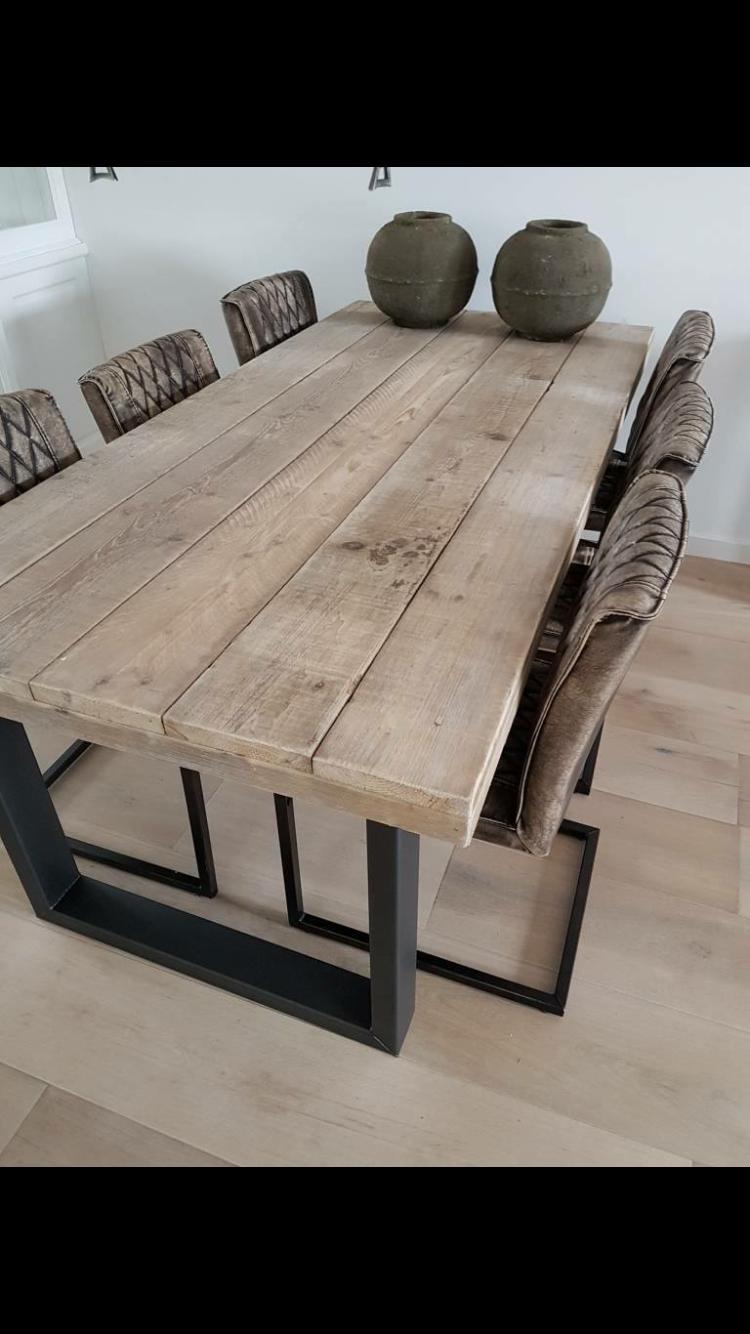 manger en à und Stahl 2019Salle Esstisch Altholz aus 5L4A3Rj