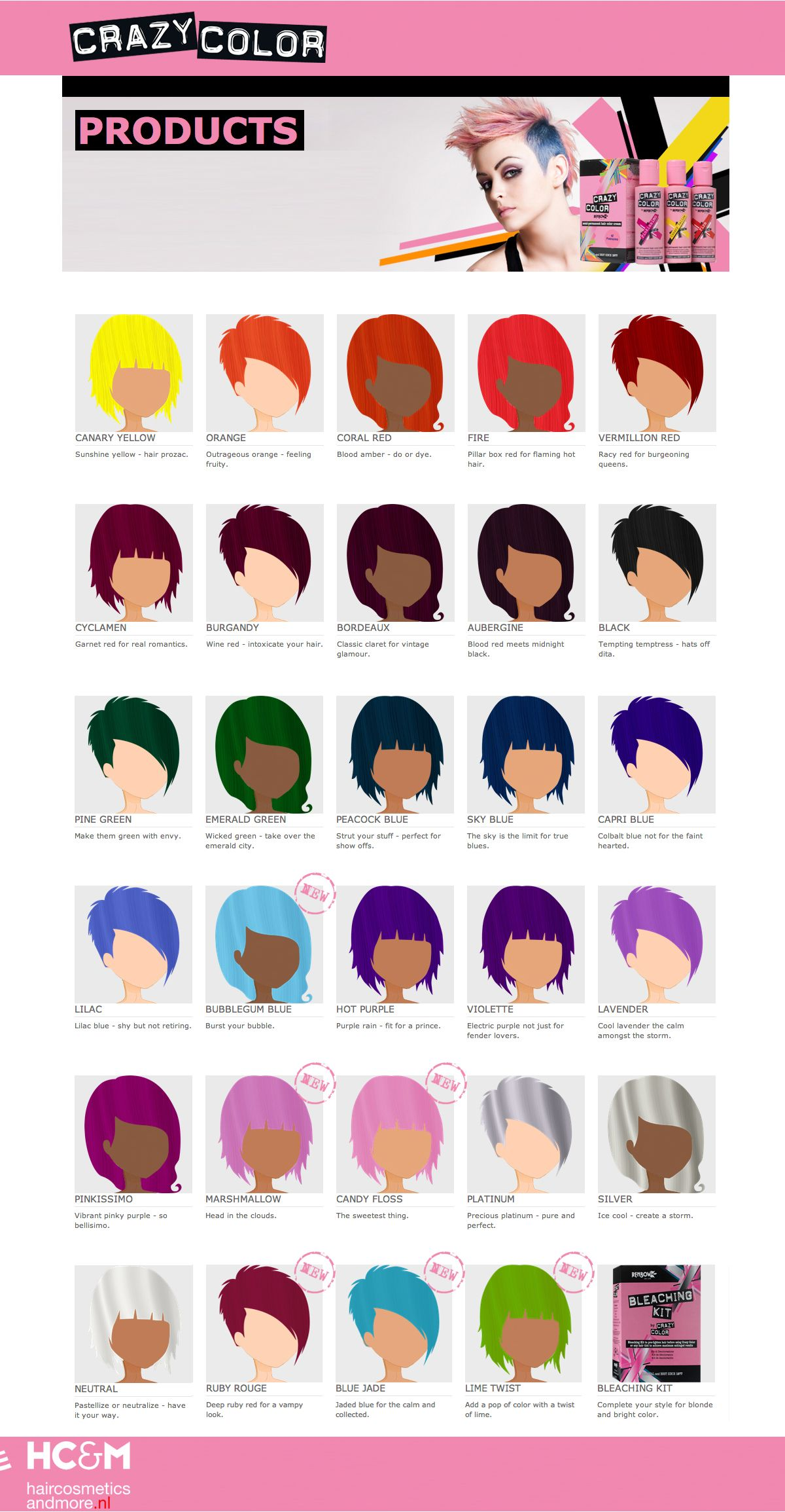 Crazy Color Swatch Chart Hair Color Swatches Hair Color Crazy