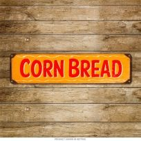 Corn Bread Rustic BBQ Kitchen Menu Item Metal Sign