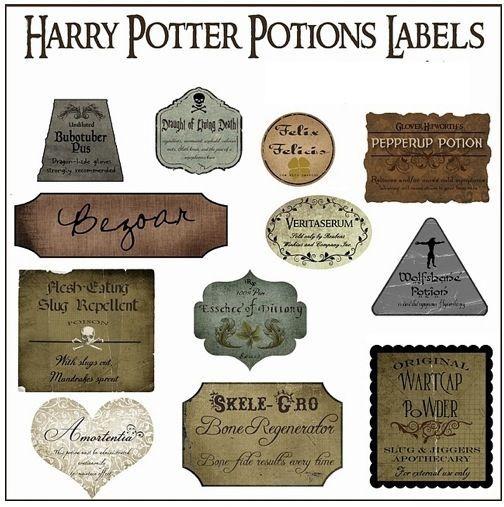 Harry potter potion labels harry potter pinterest - Harry potter basteln ...