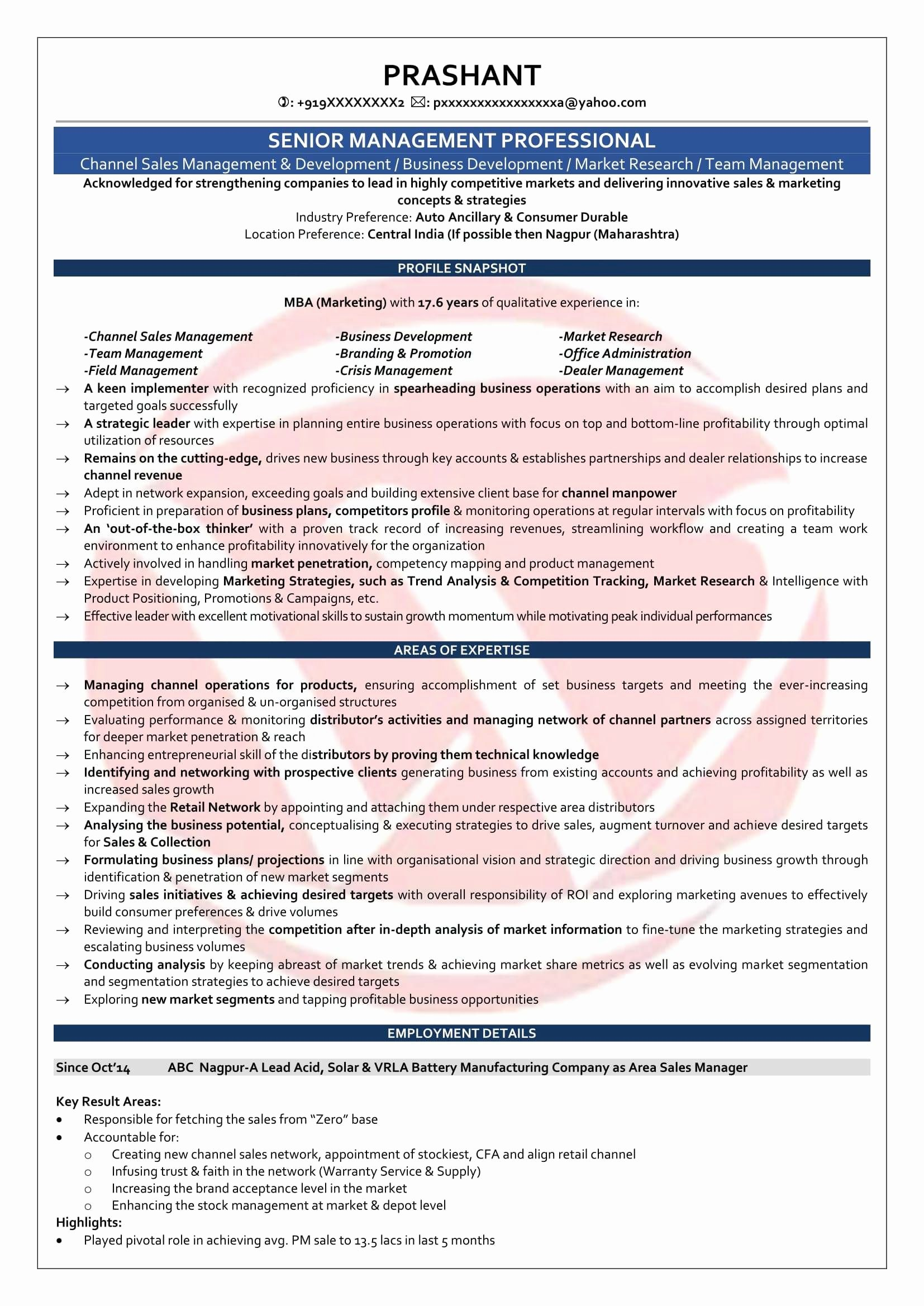 14 awesome resume format for mba marketing fresher (With