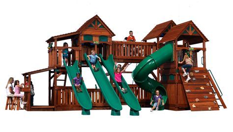 Now THAT is a play structure! | Backyard adventure ...