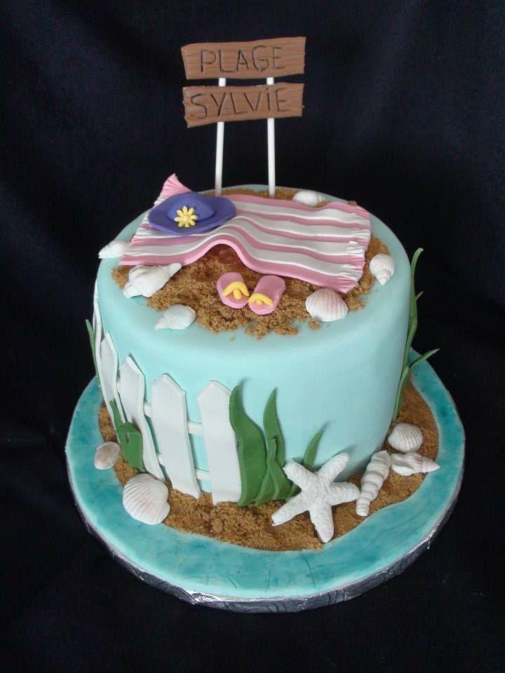 Birthday beach cake creation Maman gateau my own cakemaman